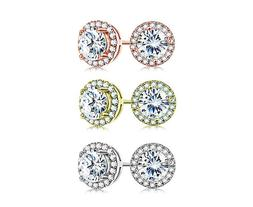 Lux Accessories Rose October Birthstone Pendant Disc Pave Ch