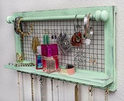 SoCal Buttercup Shabby Chic Jewelry Organizer with Removable