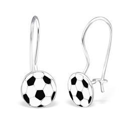 Soccer Ball Earrings White Black Sport Earrings 925 Sterling