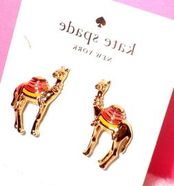spice things up camel stud earrings w