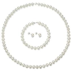 Sterling Silver 5.5-6mm White Cultured Freshwater Pearl Neck