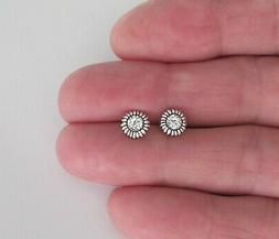 Sterling Silver 7mm Sunflower with Hypo-Allergenic Post stud