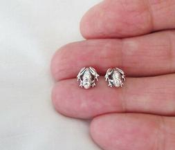 Sterling Silver 8.5mm Frog with Hypo-Allergenic Post stud ea