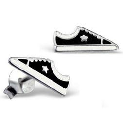 Sterling Silver Basketball Trainer Shoe Stud Earrings - Chil