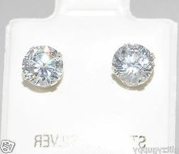 sterling silver cz stud earrings 925 clear cubic zirconia ro