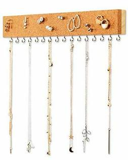 Stud Earring Organizer Hanging Holder with Cork Board - Wall