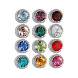 Surgical Steel 4mm Ear piercing Earrings studs 12 pair Mixed