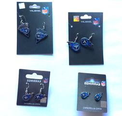 Tennessee Titans NFL Earrings~Choose Your Style:Post/Dangle/