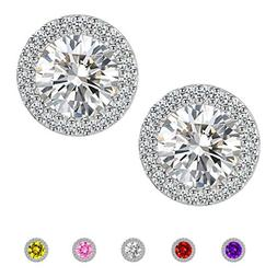 Stud Earrings,Fashion Jewelry Cubic Zirconia Halo Earrings f