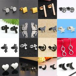 Women Stainless Steel Elegant Threader Stud Earrings Fashion